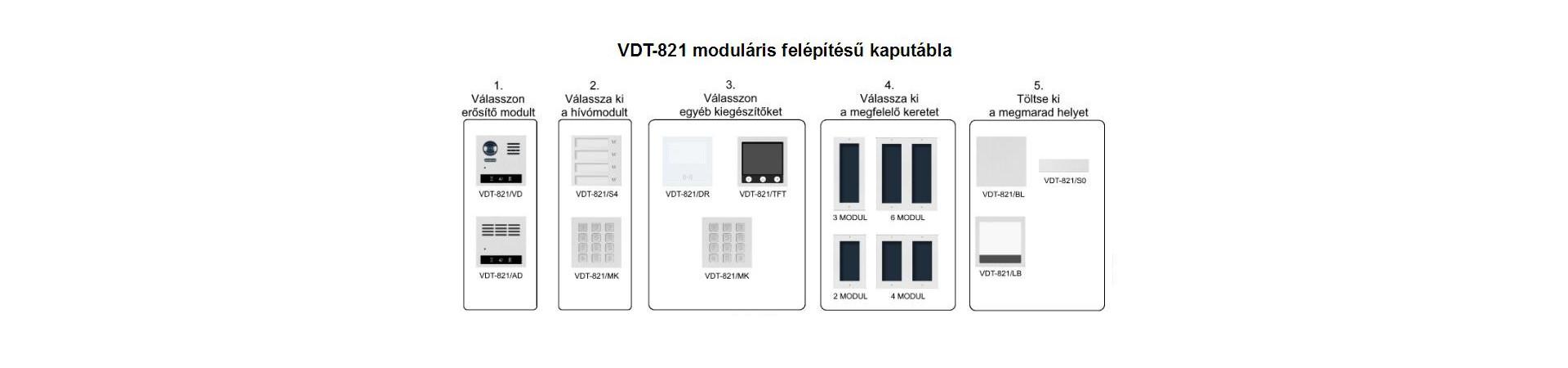 VDT-821 moduláris rendszer